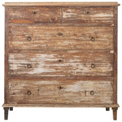 18th Century Swedish Gustavian Rustic Commode