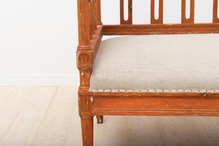 18th Century Swedish Gustavian Sofa For Sale 8
