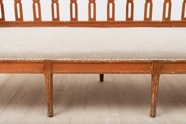 18th Century Swedish Gustavian Sofa For Sale 9