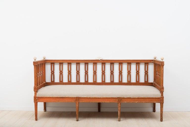 18th Century Swedish Gustavian Sofa For Sale 14