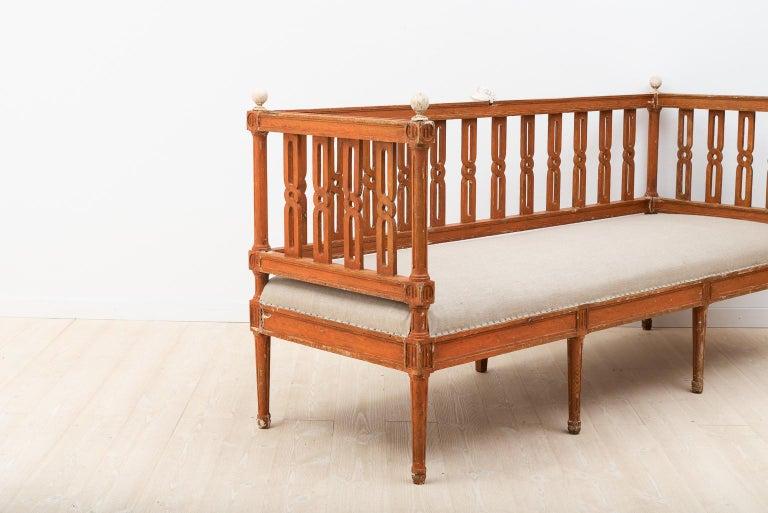 18th Century Swedish Gustavian Sofa In Good Condition For Sale In Kramfors, SE