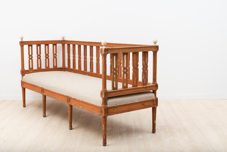 Pine 18th Century Swedish Gustavian Sofa For Sale