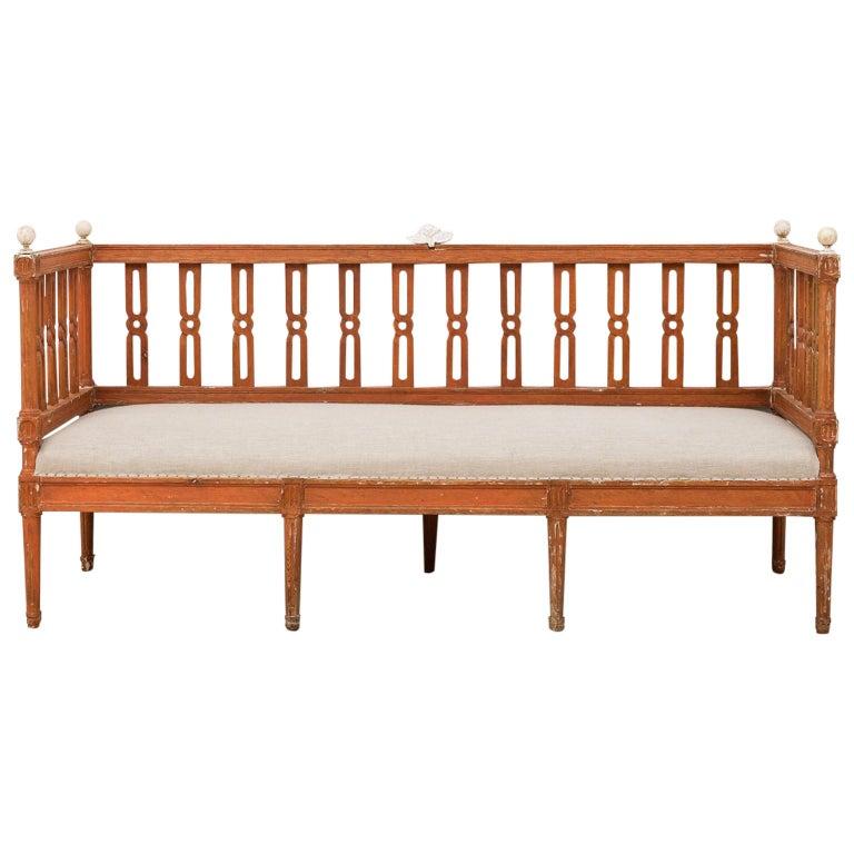 18th Century Swedish Gustavian Sofa For Sale