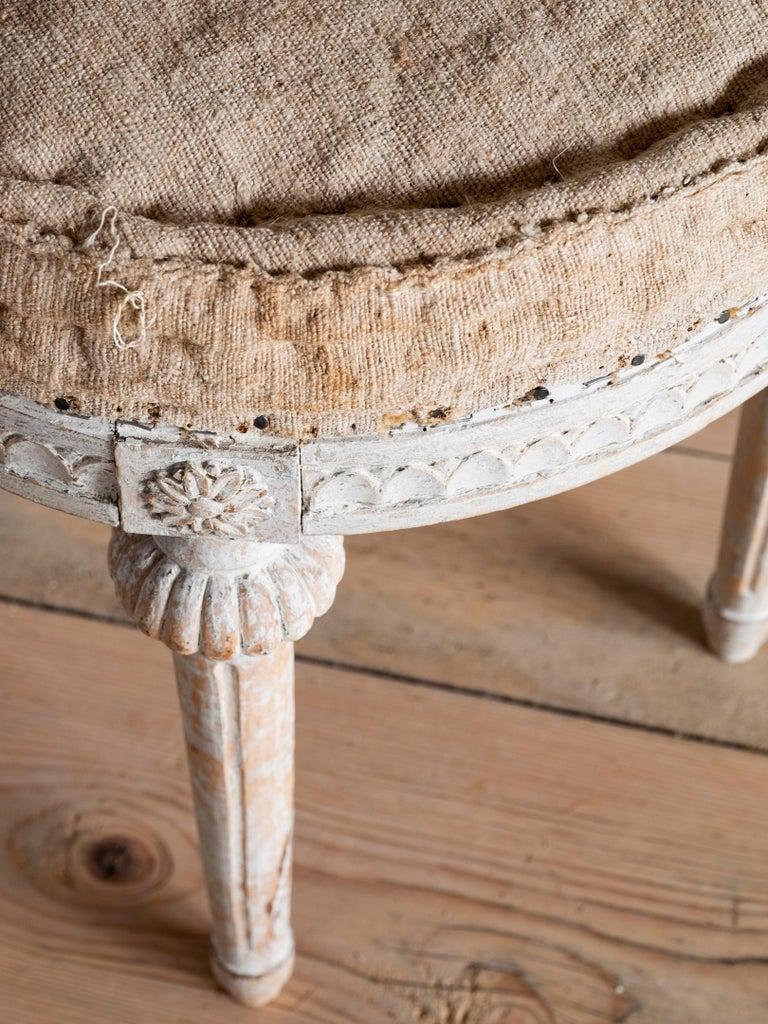 Wood 18th Century Swedish Gustavian Stools For Sale