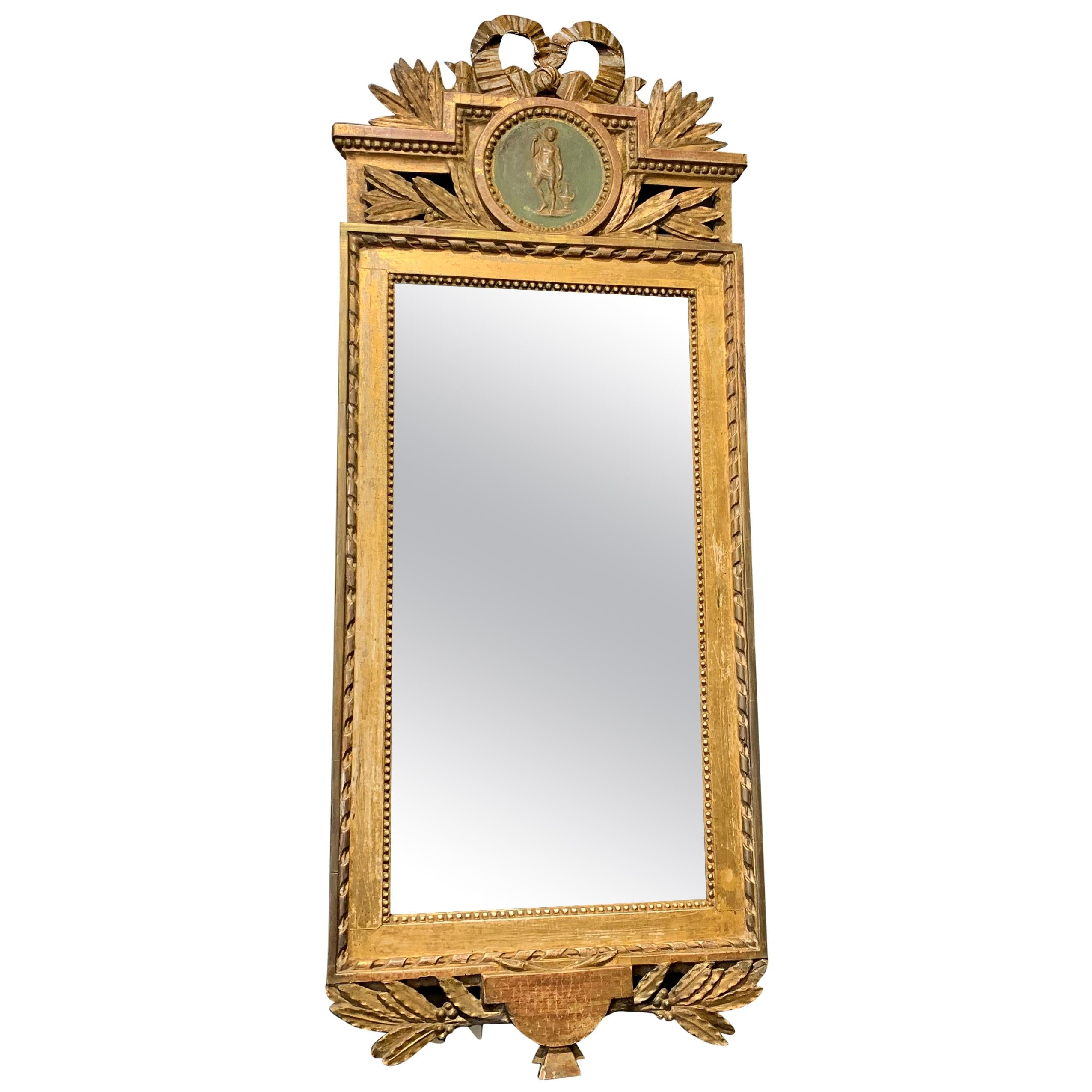 18th Century Swedish Gustavian Wall Mirror