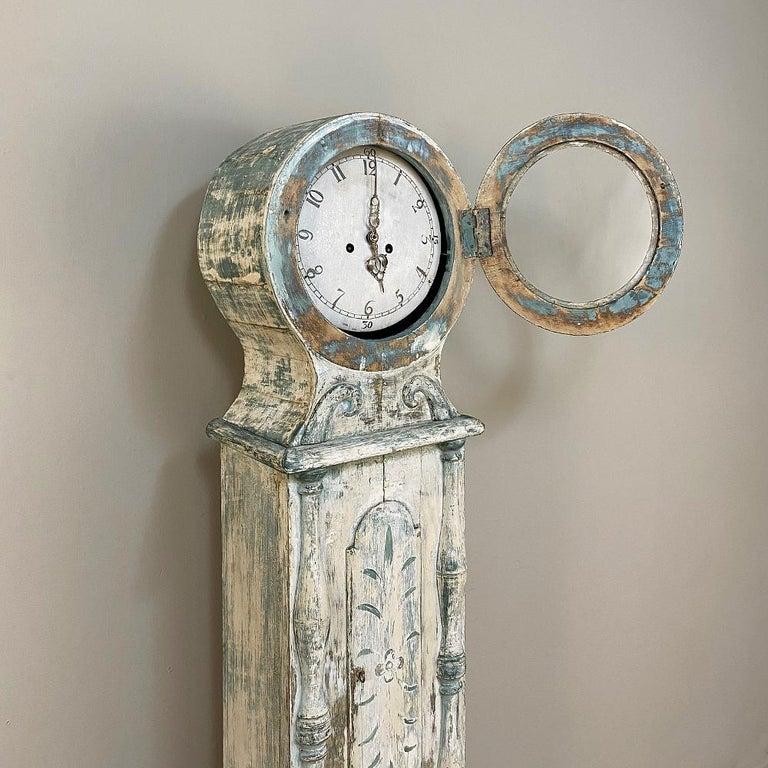 18th Century Swedish Long Case Mora Clock For Sale 4