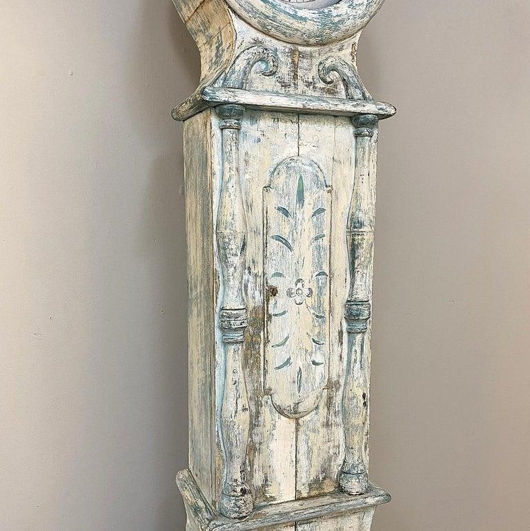 18th Century Swedish Long Case Mora Clock For Sale 1