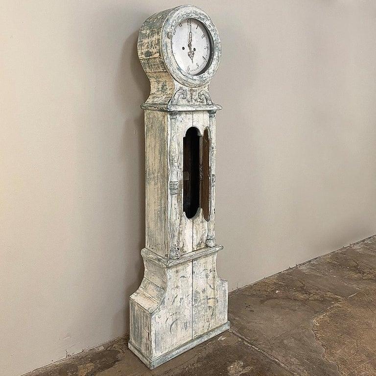 18th Century Swedish Long Case Mora Clock For Sale 3