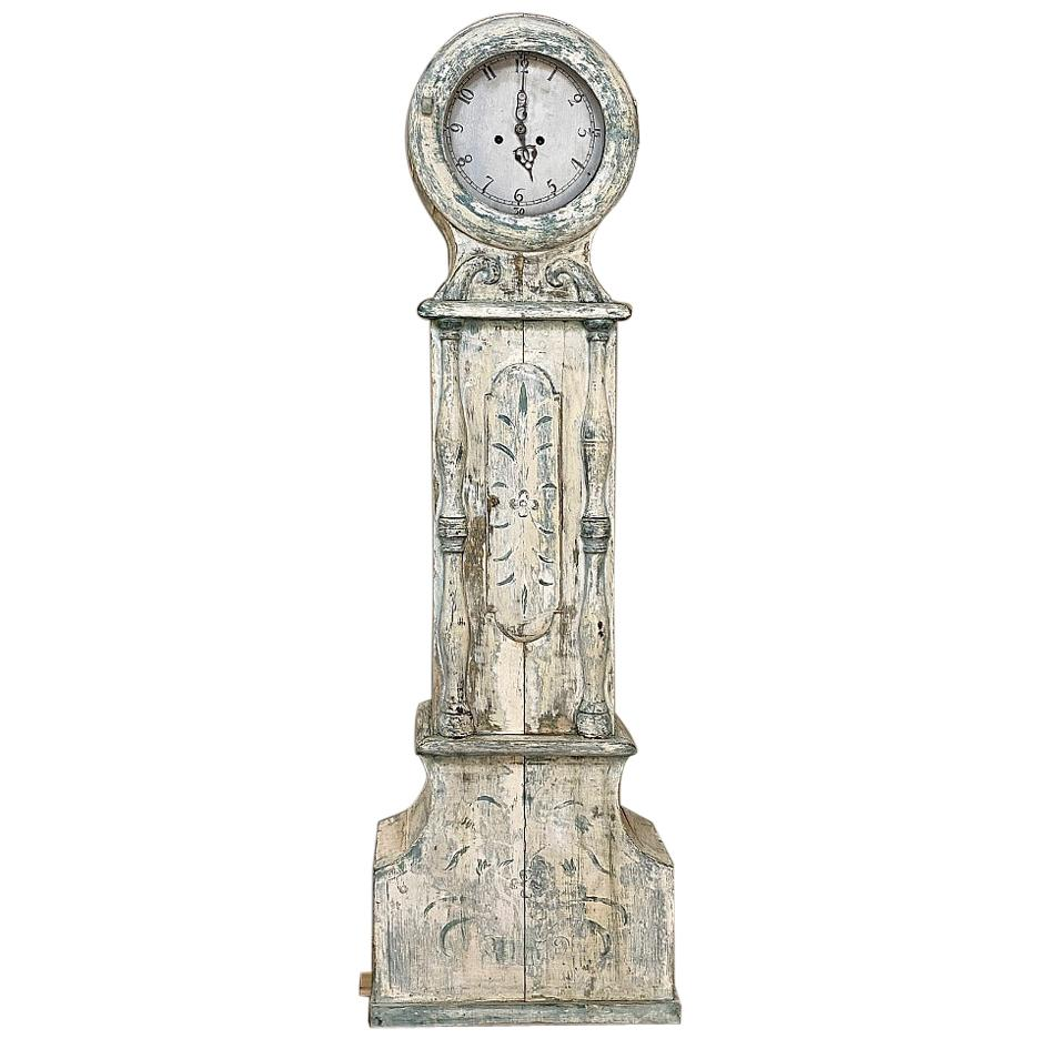 18th Century Swedish Long Case Mora Clock