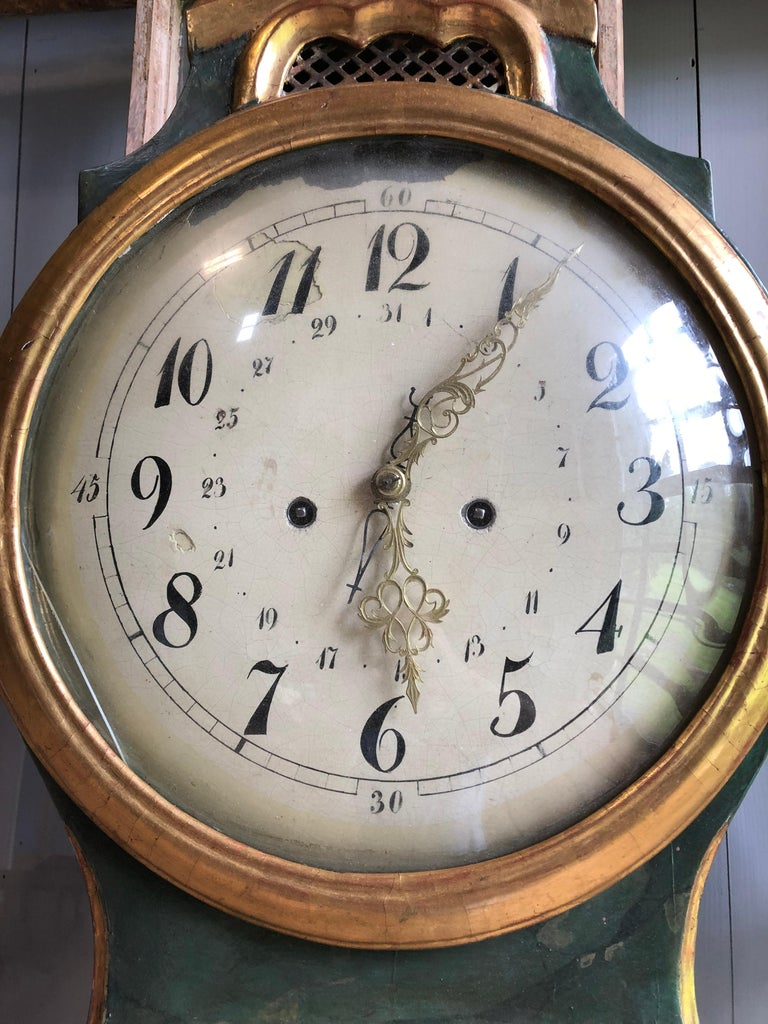 18th Century Swedish Mora Clock For Sale 3