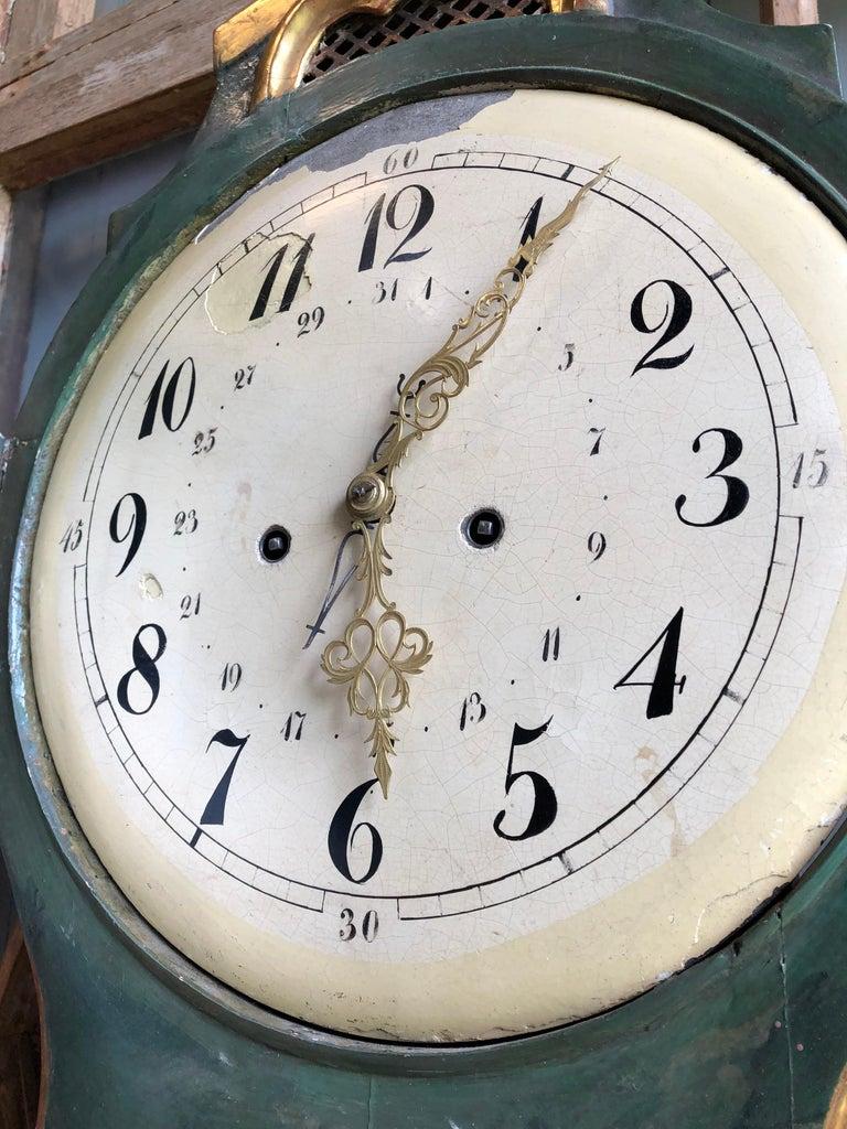 18th Century Swedish Mora Clock For Sale 6