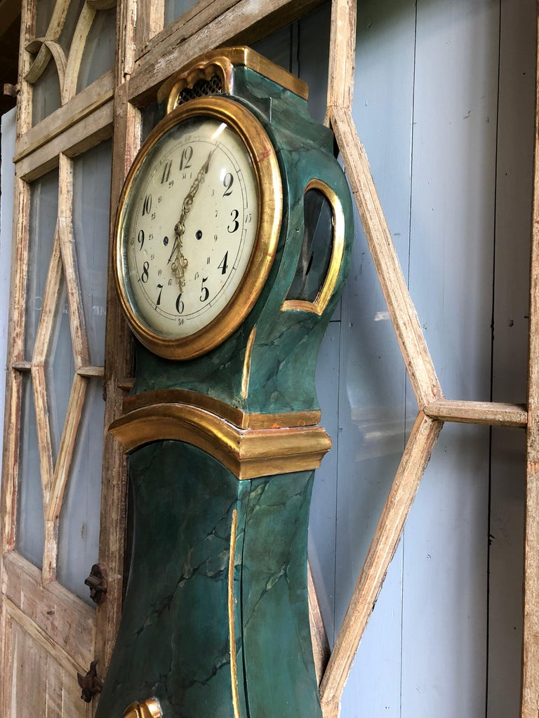 18th Century and Earlier 18th Century Swedish Mora Clock For Sale