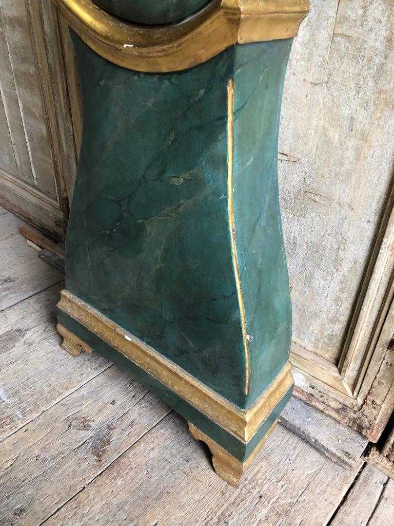 Pine 18th Century Swedish Mora Clock For Sale