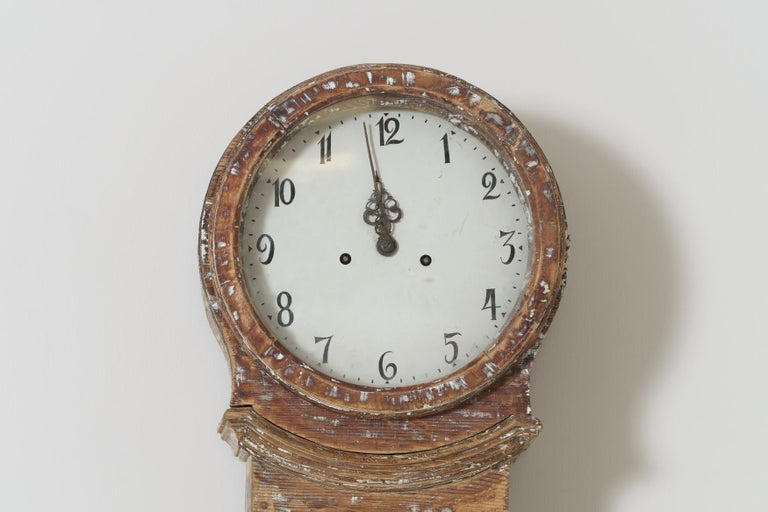 18th Century Swedish Mora Long Case Clock In Good Condition For Sale In Wichita, KS
