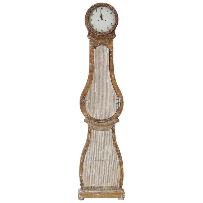 18th Century Swedish Mora Long Case Clock For Sale