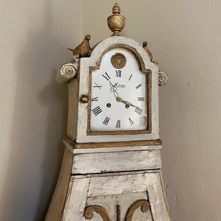 18th Century Swedish Mora Long Case Corner Clock For Sale 6