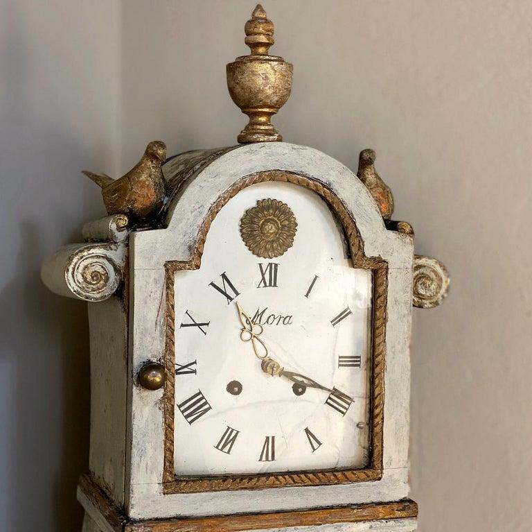 18th Century Swedish Mora Long Case Corner Clock For Sale 2