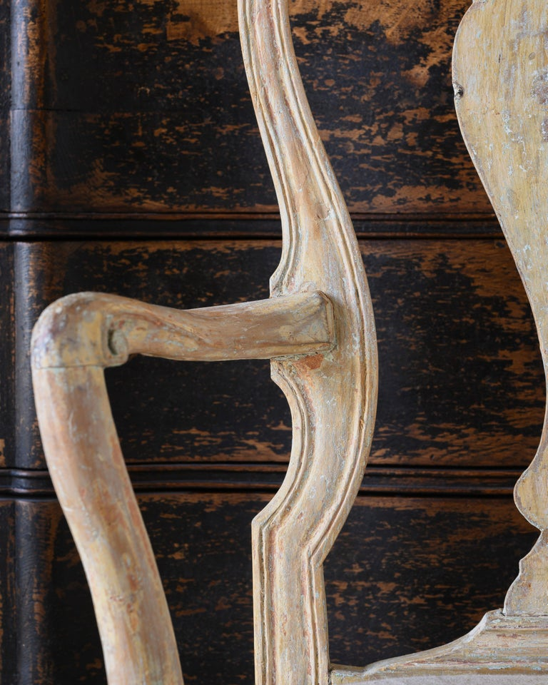 18th Century Swedish Rococo Armchairs For Sale 1