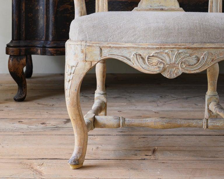 18th Century Swedish Rococo Armchairs For Sale 2