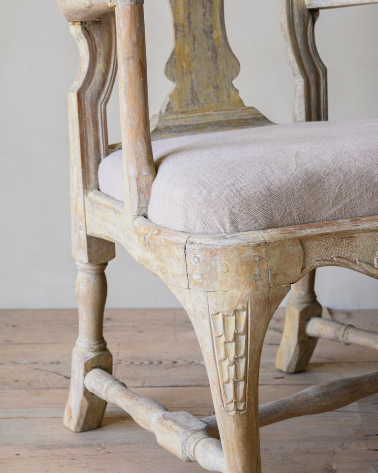 18th Century Swedish Rococo Armchairs For Sale 3