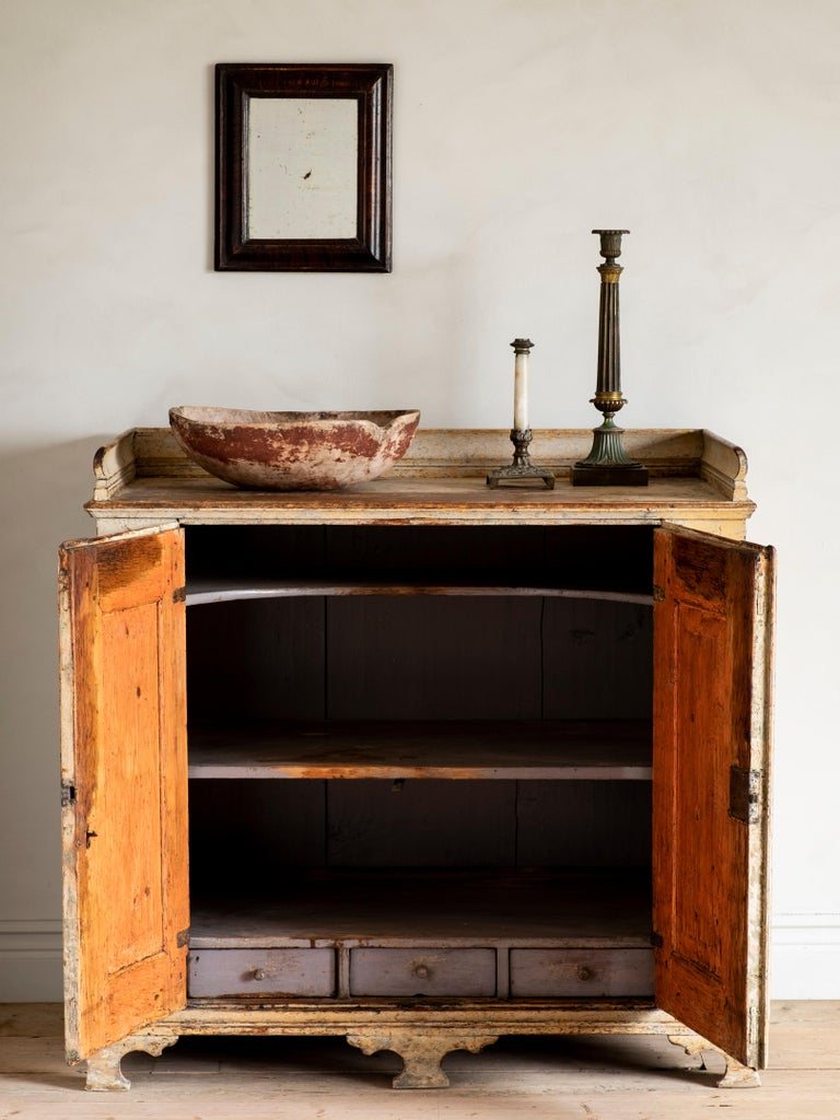 18th Century and Earlier 18th Century Swedish Rococo Buffet  For Sale