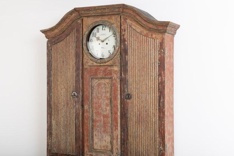 18th Century Swedish Rococo Clock Secretary For Sale 6