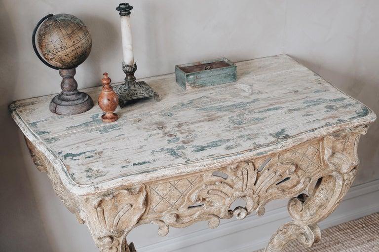 18th Century Swedish Rococo Console Table For Sale 2