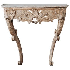 18th Century Swedish Rococo Console Table