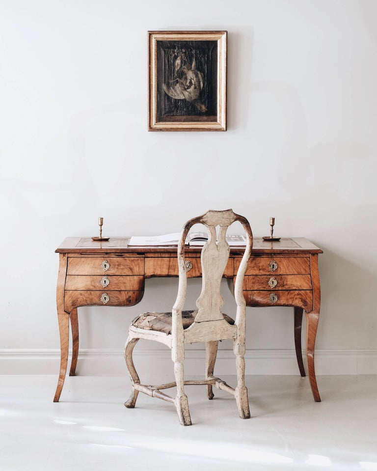 18th Century Swedish Rococo Draughtsman's Table For Sale 2