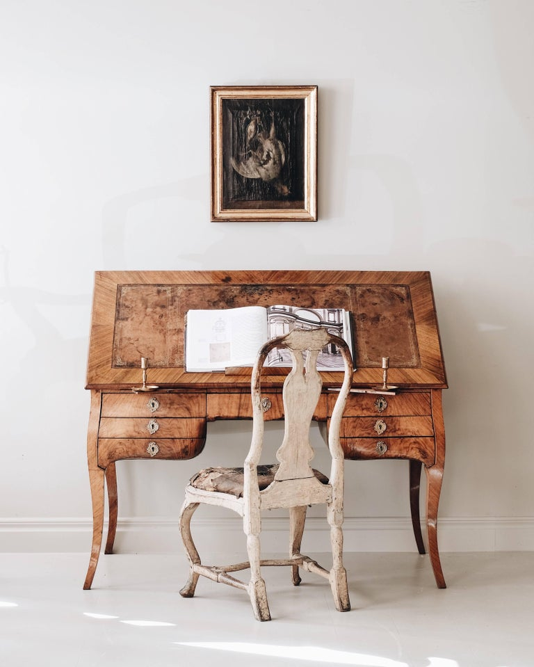 18th Century Swedish Rococo Draughtsman's Table For Sale 3
