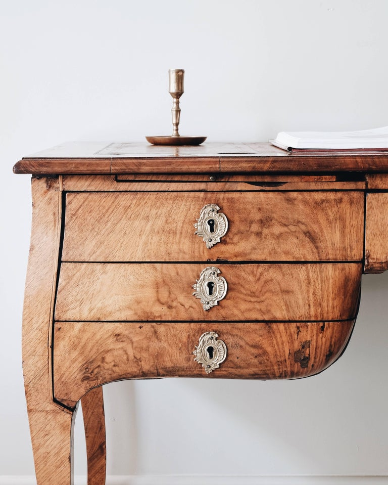 18th Century Swedish Rococo Draughtsman's Table For Sale 4