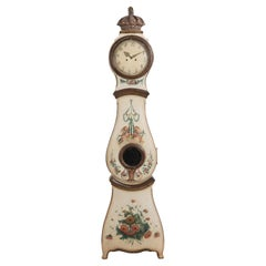 18th Century Swedish Rococo Long Case Clock