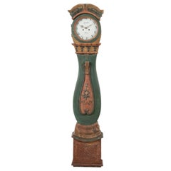 18th Century Swedish Rococo Long Case Clock