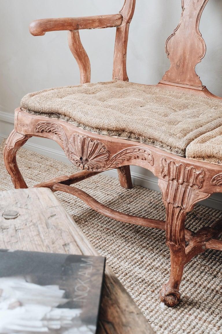 18th Century Swedish Rococo Sofa In Good Condition For Sale In Helsingborg, SE