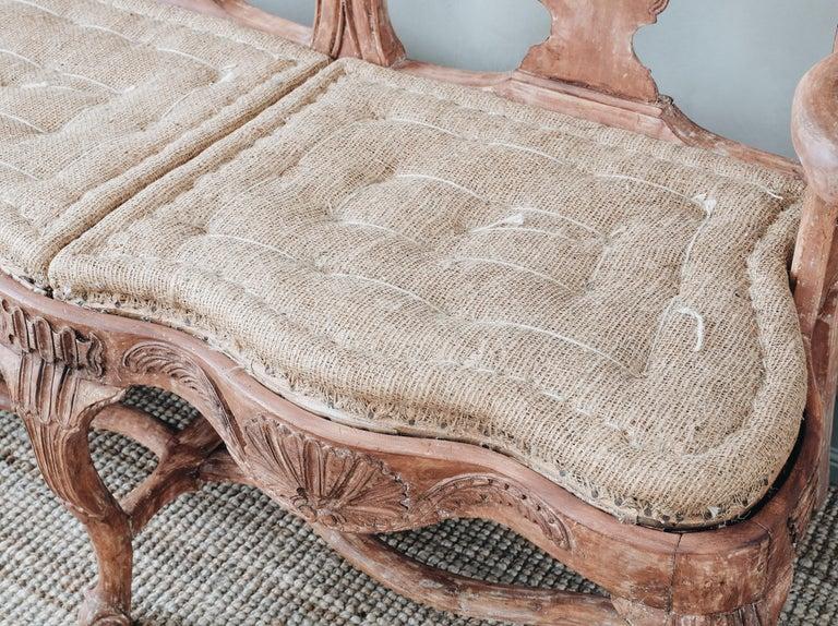 18th Century Swedish Rococo Sofa For Sale 1