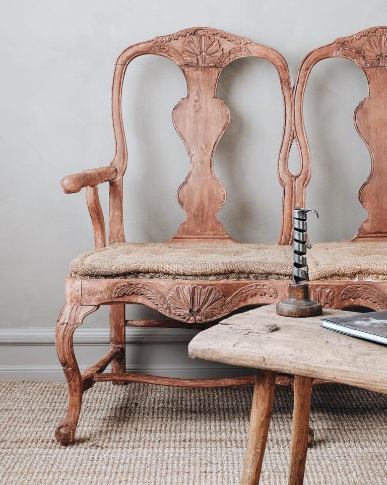 18th Century Swedish Rococo Sofa For Sale 2