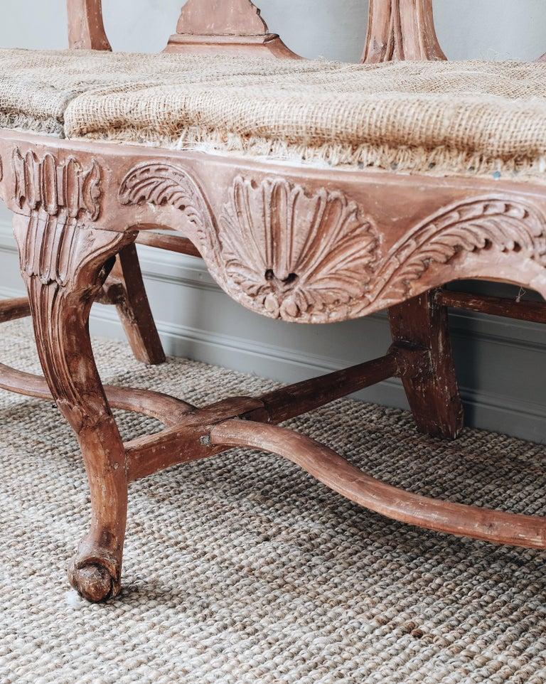 18th Century Swedish Rococo Sofa For Sale 3