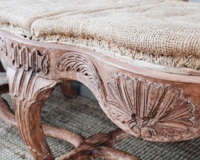 18th Century Swedish Rococo Sofa For Sale 4