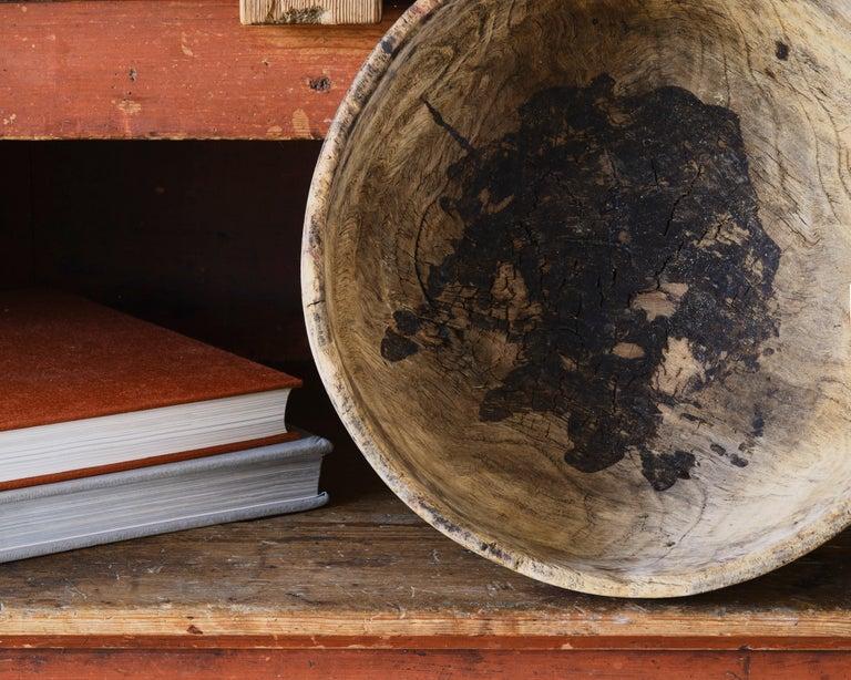 European 18th Century Swedish Root Wood Bowl For Sale