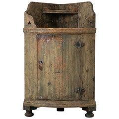 18th Century Swedish Rustic Corner Sideboard