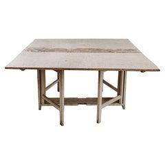 "18th Century Swedish ""Slagbord"" Table"
