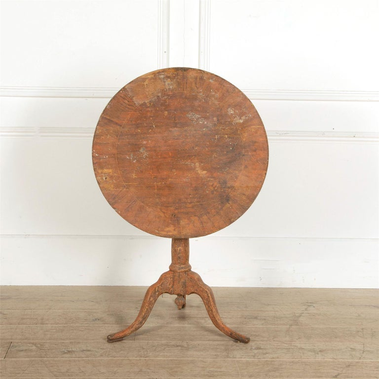 Gustavian 18th Century Swedish Tilt-Top Table For Sale