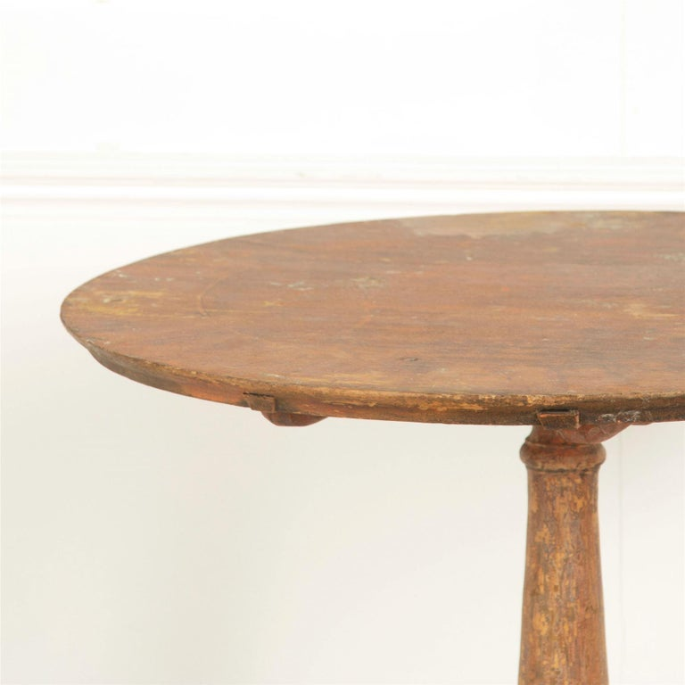 Painted 18th Century Swedish Tilt-Top Table For Sale