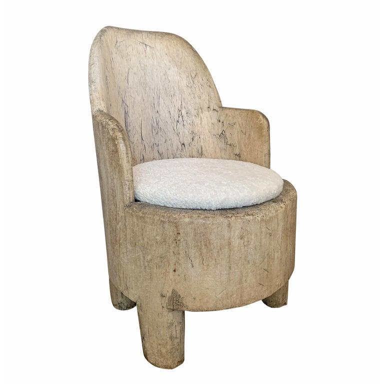 Rustic 18th Century Swedish Tub Chair For Sale
