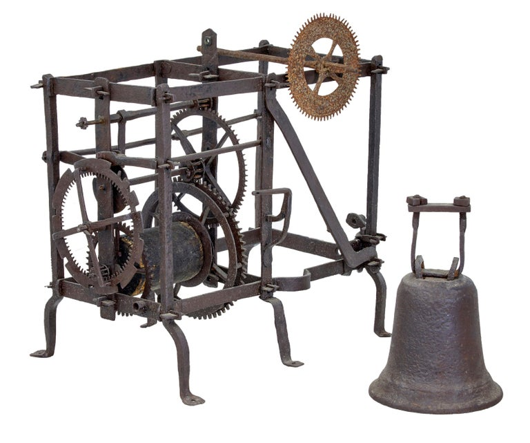 18th Century Swedish Turret Clock and Movement Rosendal Palace In Distressed Condition For Sale In Debenham, Suffolk