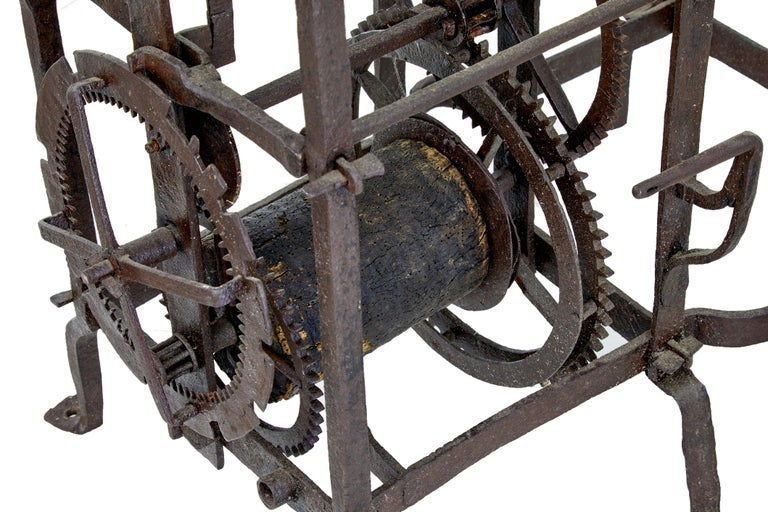 Lead 18th Century Swedish Turret Clock and Movement Rosendal Palace For Sale