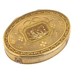 18th Century Swiss 18-Karat Three-Color Gold Snuff Box, Geneva, circa 1790