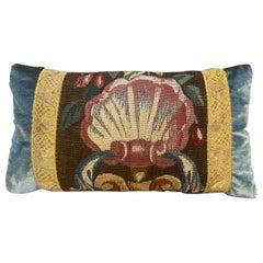 Maison Maison 18th Century Tapestry and Silk Velvet Pillow