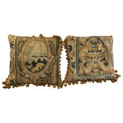 18th Century Tapestry Covered Cushions