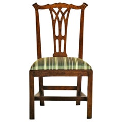 18th Century Ten Italian Carved Walnut Wood Chairs